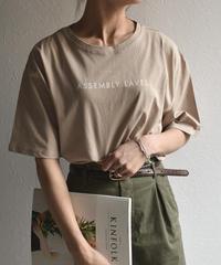 nh-tops-02051 ロゴデザイン Tシャツ ホワイト グレージュ ベージュ ライトカーキ