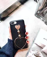 mb-iphone-02329 ハート チェーン ブラック iPhoneケース