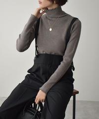 knit-02135 メロータートルネックニット オフホワイト モカグレージュ ブラウン サックス