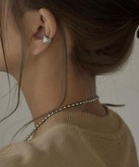 mb-earcuff-02022 SV925 ロープデザイン イヤーカフ シルバー925