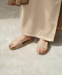 shoes-02097 エコスエード サンダル ベージュ