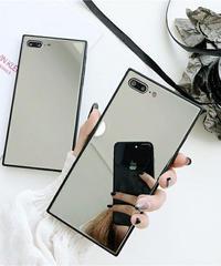 mb-iphone-02475  スクエアバンパー シルバーミラー iPhoneケース