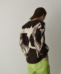 1月下旬~2月上旬入荷分 予約販売  knit-02126 Drawing ニット プルオーバー ブラウン