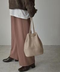 bag2-02536 ミドル 巾着バッグ ブラウン ダークブラウン ヌード