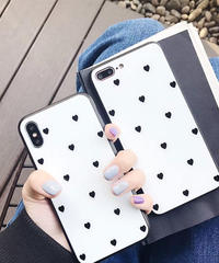 mb-iphone-02470 ハート ドット柄 iPhoneケース