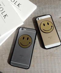mb-iphone-02215 ゴールドニコちゃん ブラックバンパー クリアケース iPhoneケース