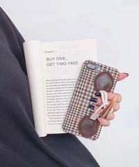 mb-iphone-02541  バッファローホーン調モチーフベルト付き iPhoneケース