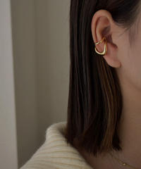 mb-earcuff-02018 SV925 ゆがみツーライン  イヤーカフ シルバー925 ゴールド