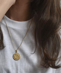 mb-necklace2-02005 マットゴールド コインネックレス ☆WA04