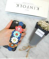 mb-iphone-02259 フラワーベルト付き 落下防止 iPhoneケース