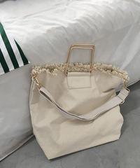 bag2-02348 スクエアハンドル キャンバス2wayバッグ