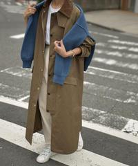 coat-13001  撥水 ステンカラーコート ベージュ カーキ