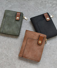 wallet-02063 アウトポケット 二つ折り財布 小銭入れ付き ウォレット