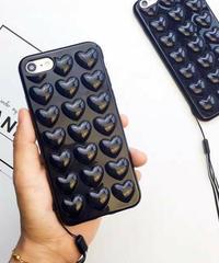 mb-iphone-02233 ブラック プチプチハート iPhoneケース