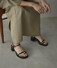 shoes-02134 チャンキーヒール ストラップ サンダル オフホワイト モカ ブラック