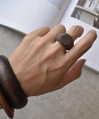 mb-ring2-02023 ブラウン ウッドリング