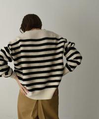 knit-02127 ボーダー ニットプルオーバー