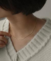 mb-necklace2-02060 SV925 ブロックチェーンネックレス シルバー ゴールド