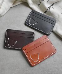 mb-wallet-02069 本革レザー ステッチデザイン パスケース