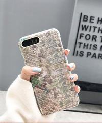 mb-iphone-02424 オーロラ パイソン柄 iPhoneケース