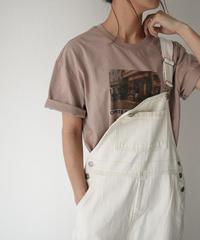 nh-tops-02158 フォトTシャツ ホワイト ベージュ モーヴ