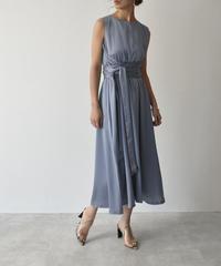 【cizatto】 Waist Cross Ribbon Dress