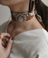 mb-scarf-02003 エスニック柄ネックスカーフ