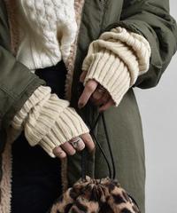 nh-gloves-02003 ロングタイプ ワイドリブタイプ リブアームウォーマー オフホワイト ベージュ ココアブラウン グレー ブラック