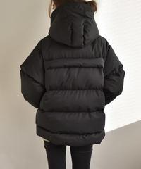 フード付き エコダウンジャケット ブラック