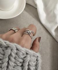 mb-ring2-02057 SV925 多重ノットリング シルバー925