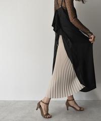 【cizatto】 Satin Back Pleats Dress