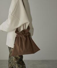 nh-bag2-02550 日本製 エコスエード エプロン 巾着バッグ モカブラウン