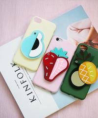 mb-iphone-02447  トロピカルフルーツ ミラー付き iPhoneケース