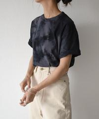 nh-tops-02150 タイダイ染 ボーイフレンドTシャツ ブラック