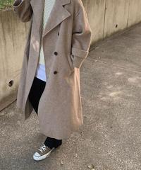 coat-02023 ウール90 ダブルボタンワイドスリーブコート リバー仕立て