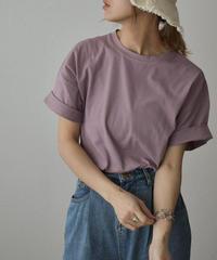 nh-tops-02218 クルーネック Tシャツ ホワイト ライムイエロー オレンジ ターコイズ ダスティパープル ブラック