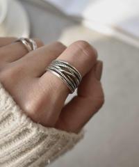 mb-ring2-02069 SV925 多重ラインリング シルバー925