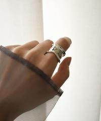 mb-ring2-02123 SV925  ウェーブワイドリング シルバー925