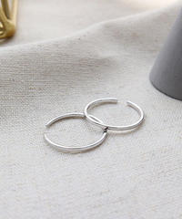 mb-ring2-02090 SV925 2個セット 極細1mmリング シルバー925