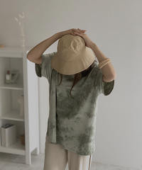 nh-tops-02176 タイダイ染 ボーイフレンドTシャツ ピスタチオ
