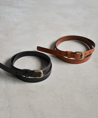 mb-belt-02032 本革 アンティーク調バックルベルト オレンジブラウン ブラック
