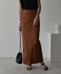 ブラウン M のみ 10月下旬入荷分 予約販売 bottoms-04033 日本製 ポケット チノ ストレッチ スカート ベージュ ブラウン