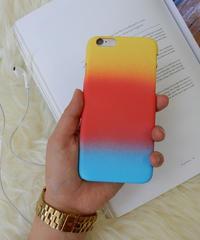 mb-iphone-02153 マットな素材 レインボー イエロー×レッド×ブルー iPhoneケース