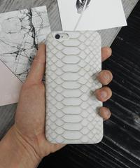 mb-iphone-02043  ホワイトパイソンレザー柄 iPhoneケース