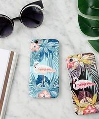 mb-iphone-02273 フラミンゴ トロピカル iPhoneケース