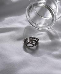 mb-ring2-02115 SV925 多重ロープリング  シルバー925