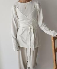 nh-tops-04029 日本製 キャミソール レイヤード ロングTシャツ ホワイト モカ