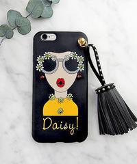 mb-iphone-02283  タイプA Daisy オシャレガール スタッズ タッセル付き iPhoneケース