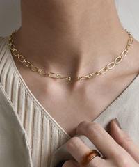 mb-necklace2-02027 SV925 シングルチェーン チョーカーネックレス ゴールド シルバー925