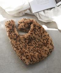 bag2-02409 ヒョウ柄 レオパード柄 エコファートートバッグ